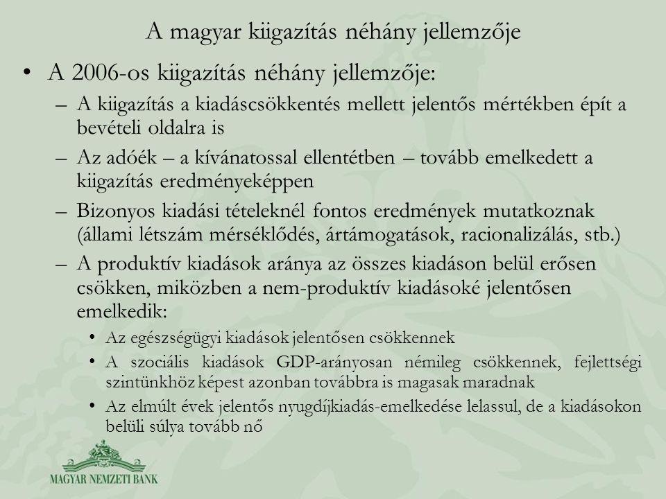 A magyar kiigazítás néhány jellemzője