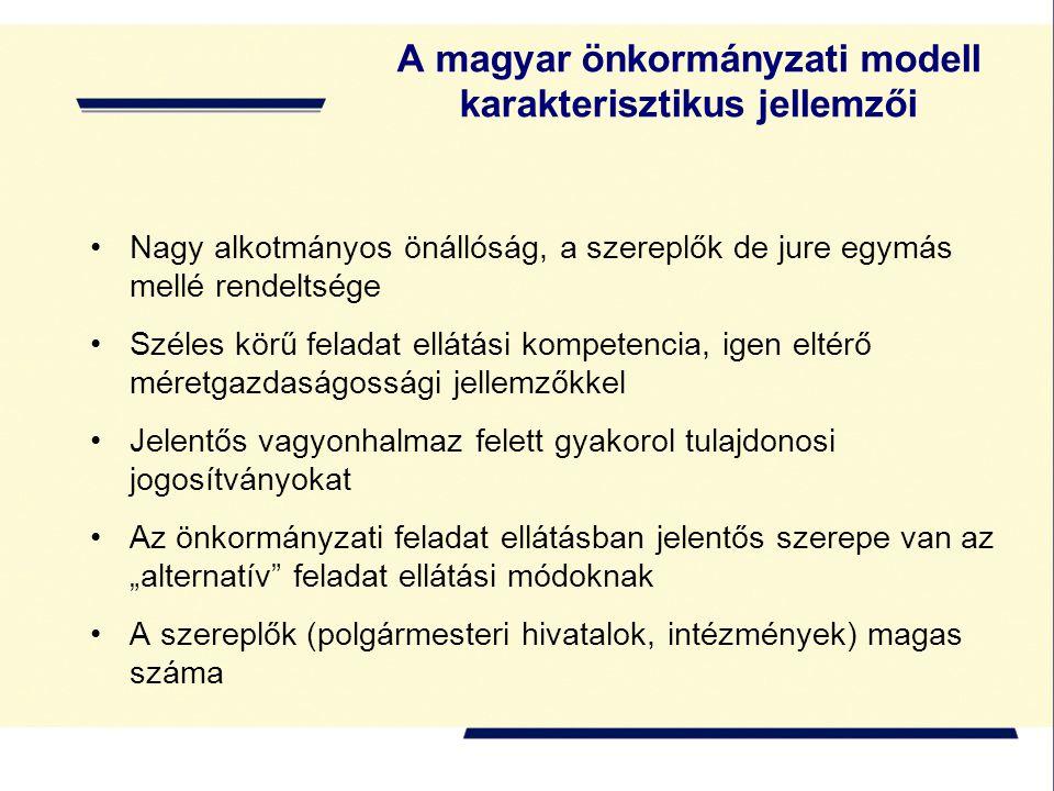 A magyar önkormányzati modell karakterisztikus jellemzői