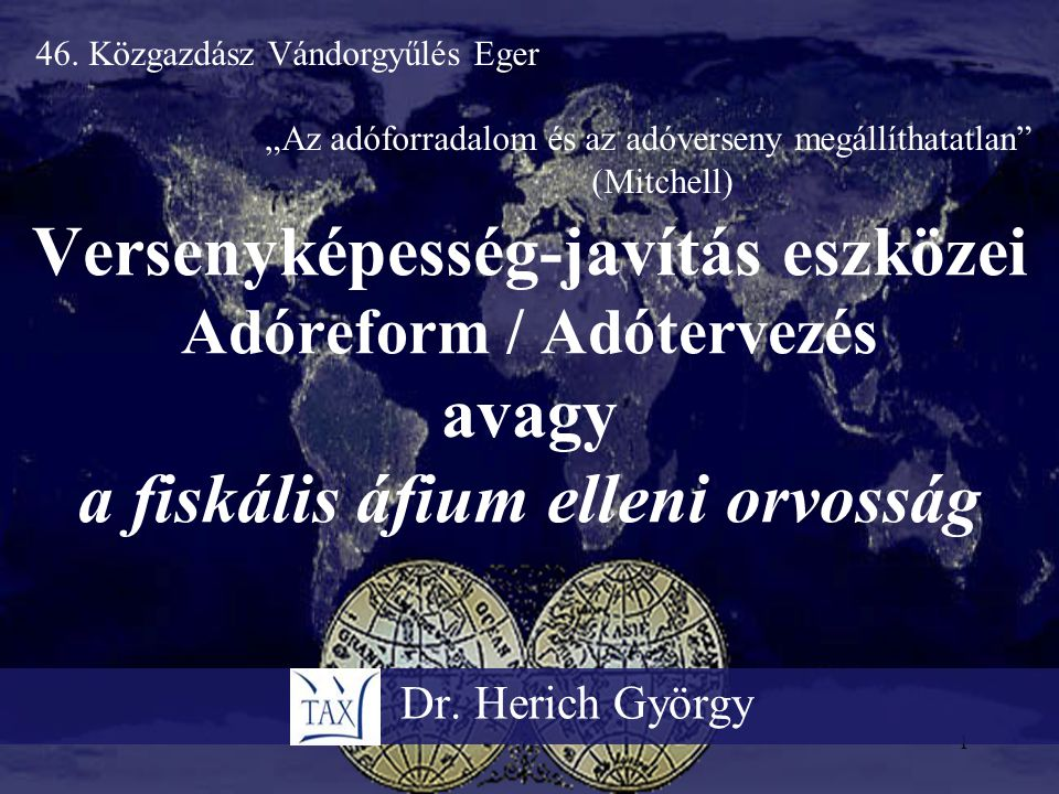 46. Közgazdász Vándorgyűlés Eger