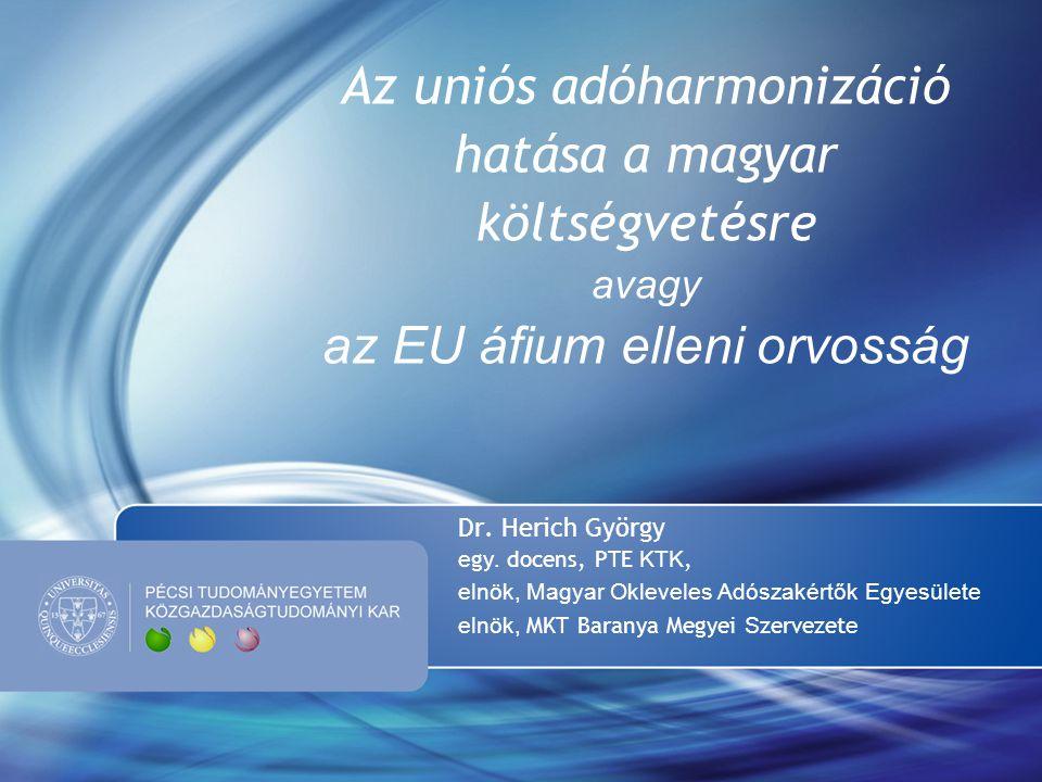 Az uniós adóharmonizáció hatása a magyar költségvetésre avagy az EU áfium elleni orvosság