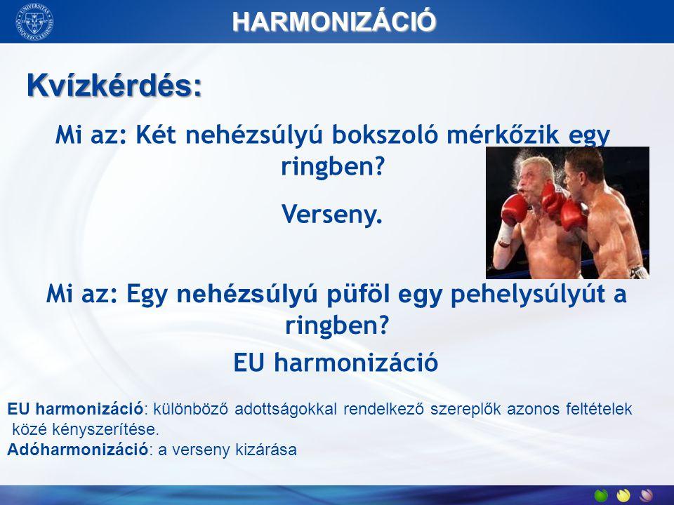 Kvízkérdés: HARMONIZÁCIÓ