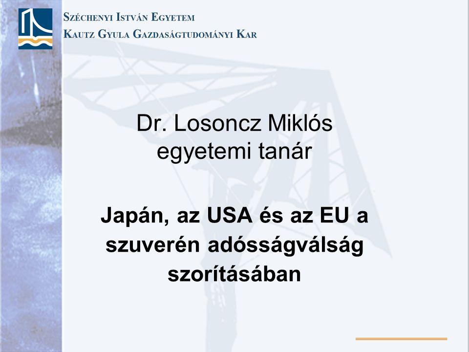 Dr. Losoncz Miklós egyetemi tanár