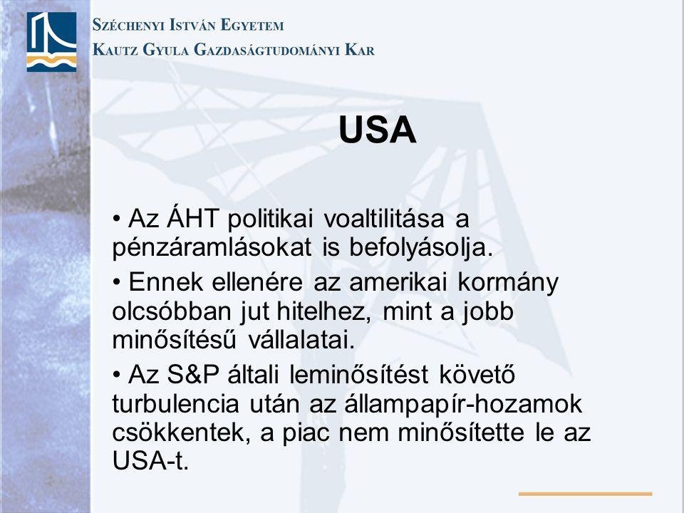USA Az ÁHT politikai voaltilitása a pénzáramlásokat is befolyásolja.