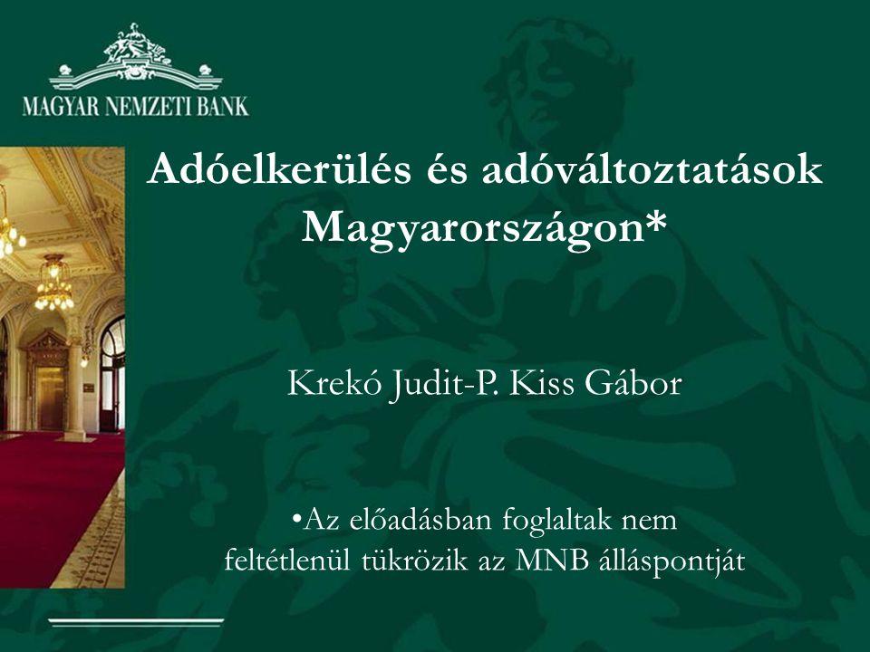 Adóelkerülés és adóváltoztatások Magyarországon*