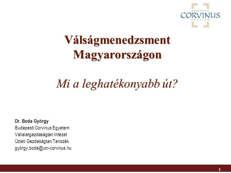 Válságmenedzsment Magyarországon Mi a leghatékonyabb út