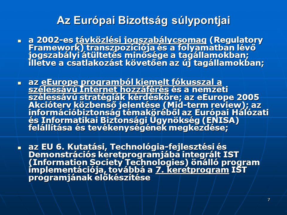 Az Európai Bizottság súlypontjai