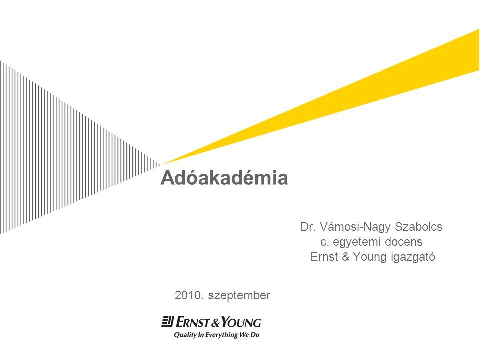 Dr. Vámosi-Nagy Szabolcs c. egyetemi docens Ernst & Young igazgató