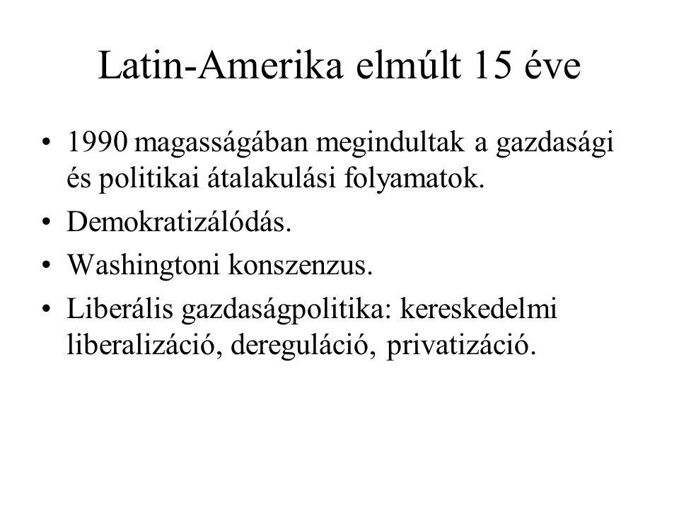 Latin-Amerika elmúlt 15 éve