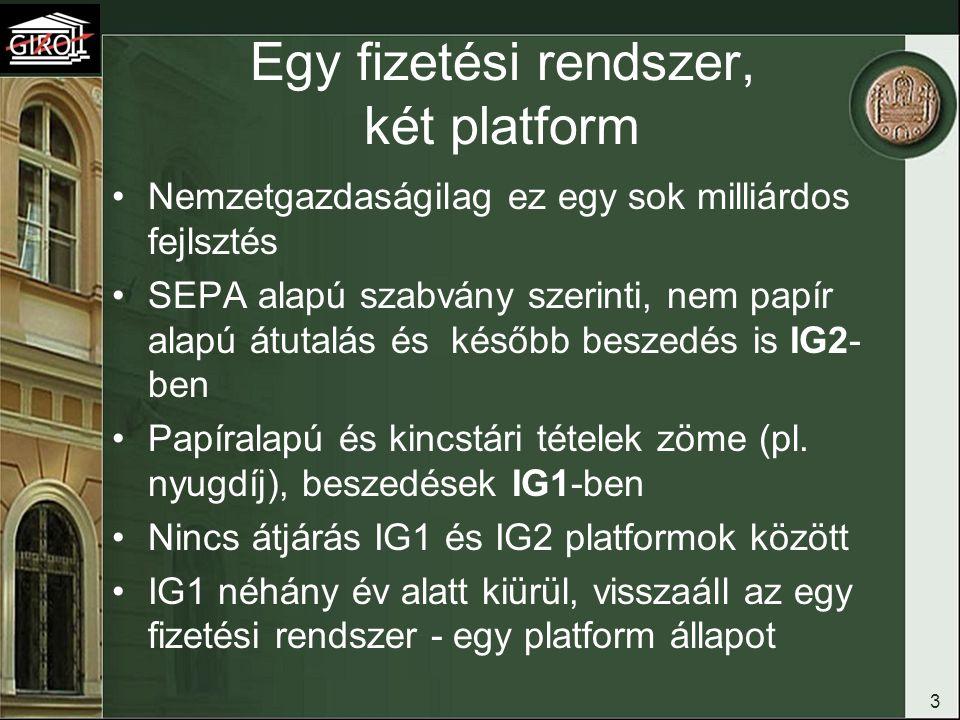 Egy fizetési rendszer, két platform