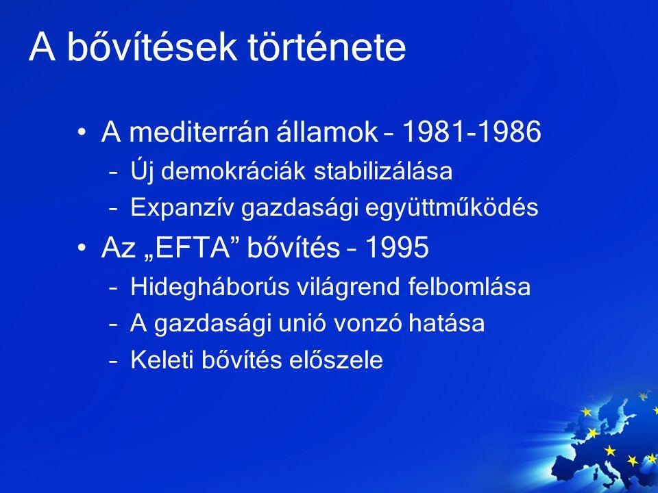 A bővítések története A mediterrán államok – 1981-1986
