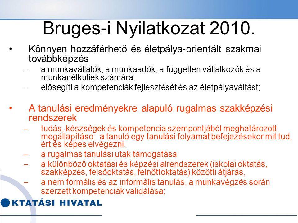 Bruges-i Nyilatkozat 2010. Könnyen hozzáférhető és életpálya-orientált szakmai továbbképzés.