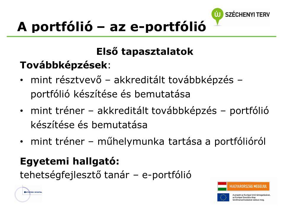 A portfólió – az e-portfólió