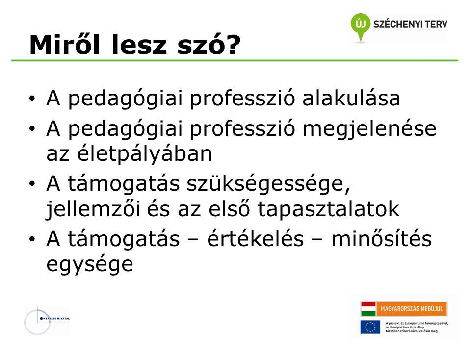 Miről lesz szó A pedagógiai professzió alakulása
