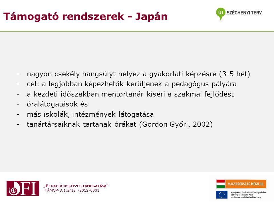 Támogató rendszerek - Japán