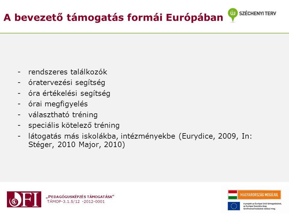 A bevezető támogatás formái Európában