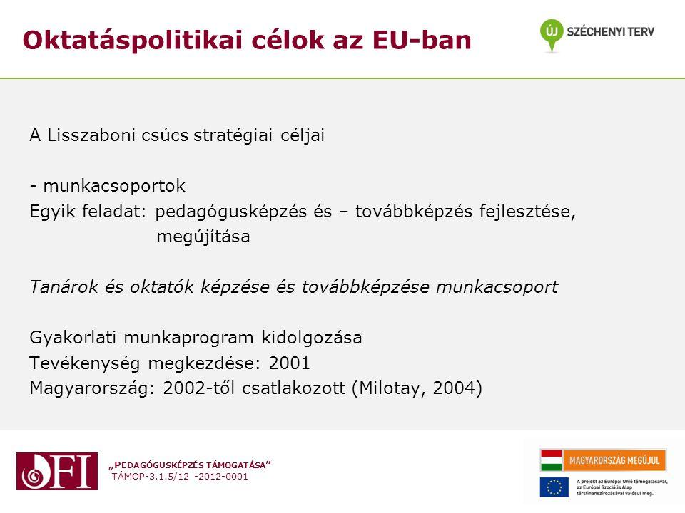 Oktatáspolitikai célok az EU-ban