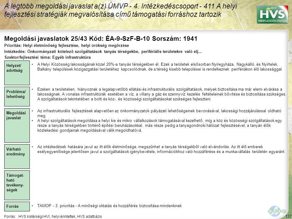 Megoldási javaslatok 25/43 Kód: ÉA-9-SzF-B-10 Sorszám: 1941