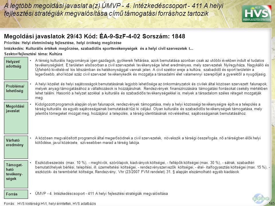 Megoldási javaslatok 29/43 Kód: ÉA-9-SzF-4-02 Sorszám: 1848