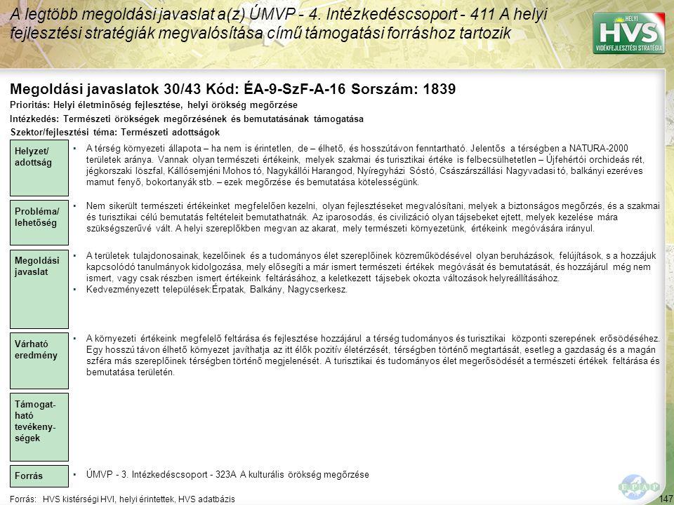 Megoldási javaslatok 30/43 Kód: ÉA-9-SzF-A-16 Sorszám: 1839