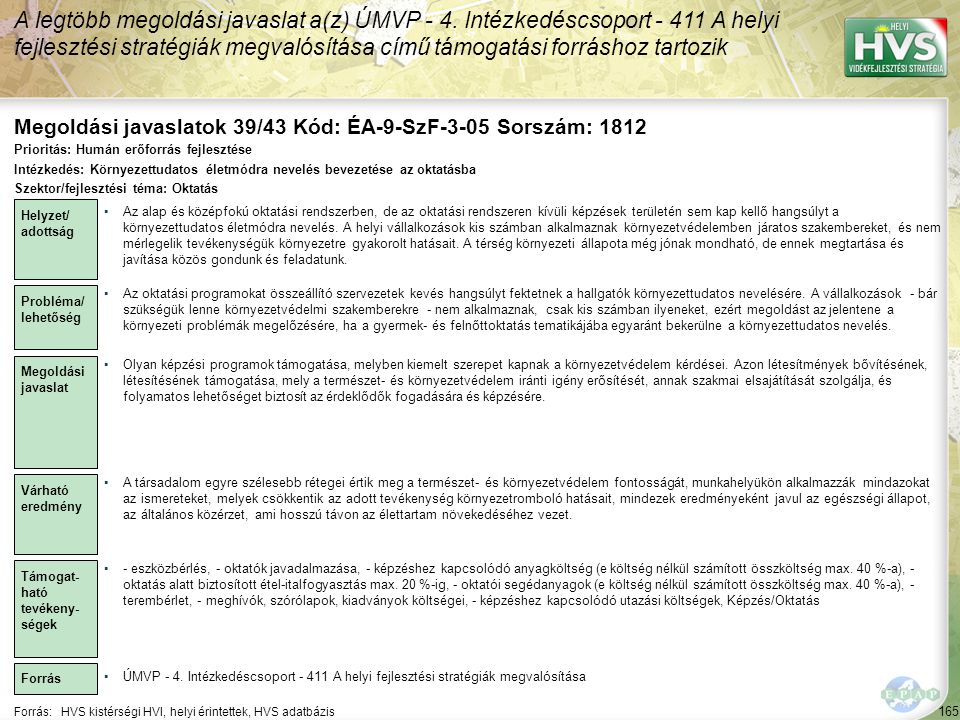Megoldási javaslatok 39/43 Kód: ÉA-9-SzF-3-05 Sorszám: 1812
