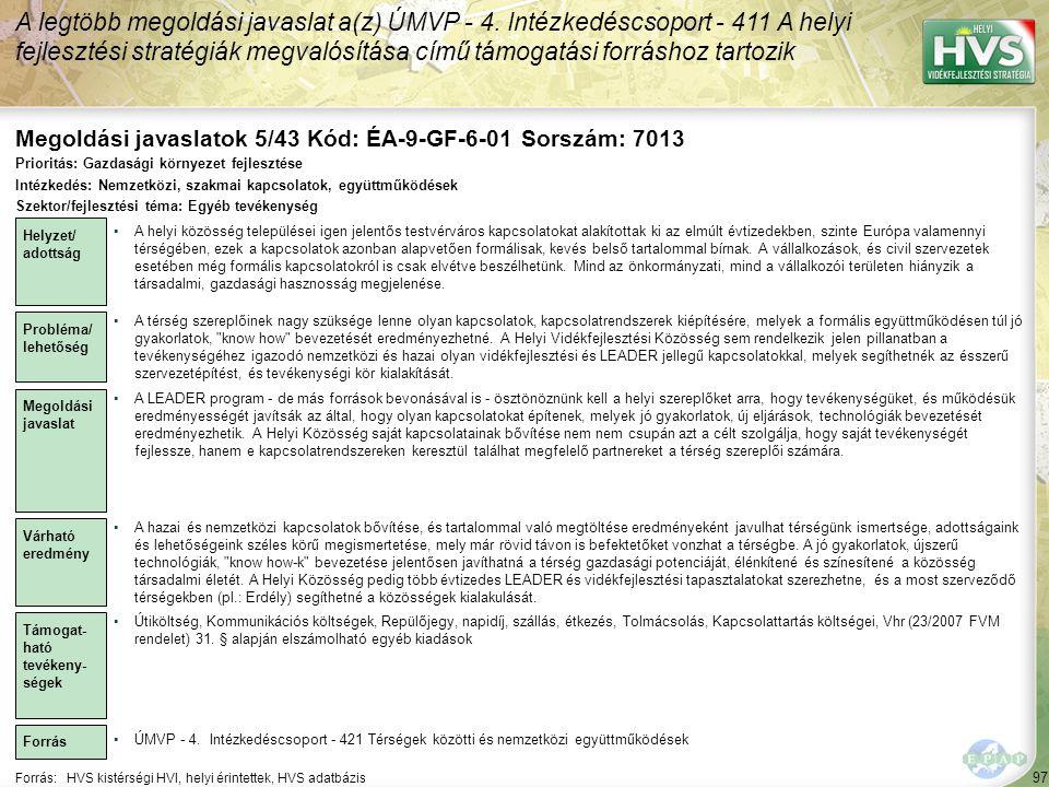 Megoldási javaslatok 5/43 Kód: ÉA-9-GF-6-01 Sorszám: 7013