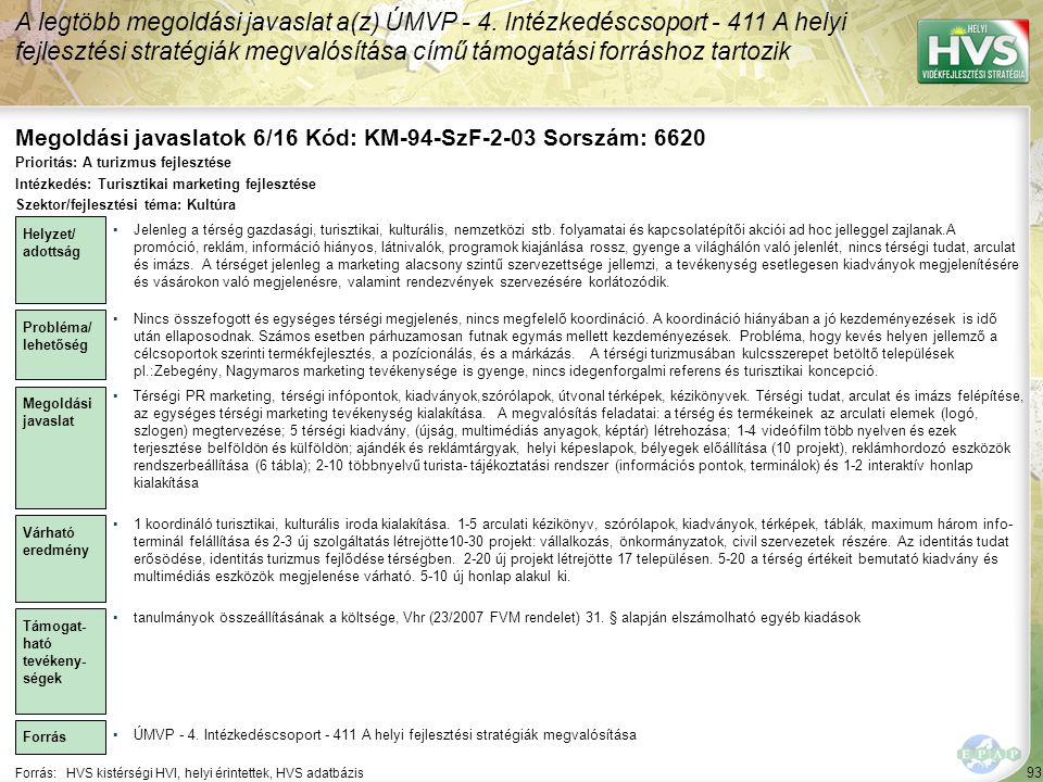 Megoldási javaslatok 6/16 Kód: KM-94-SzF-2-03 Sorszám: 6620