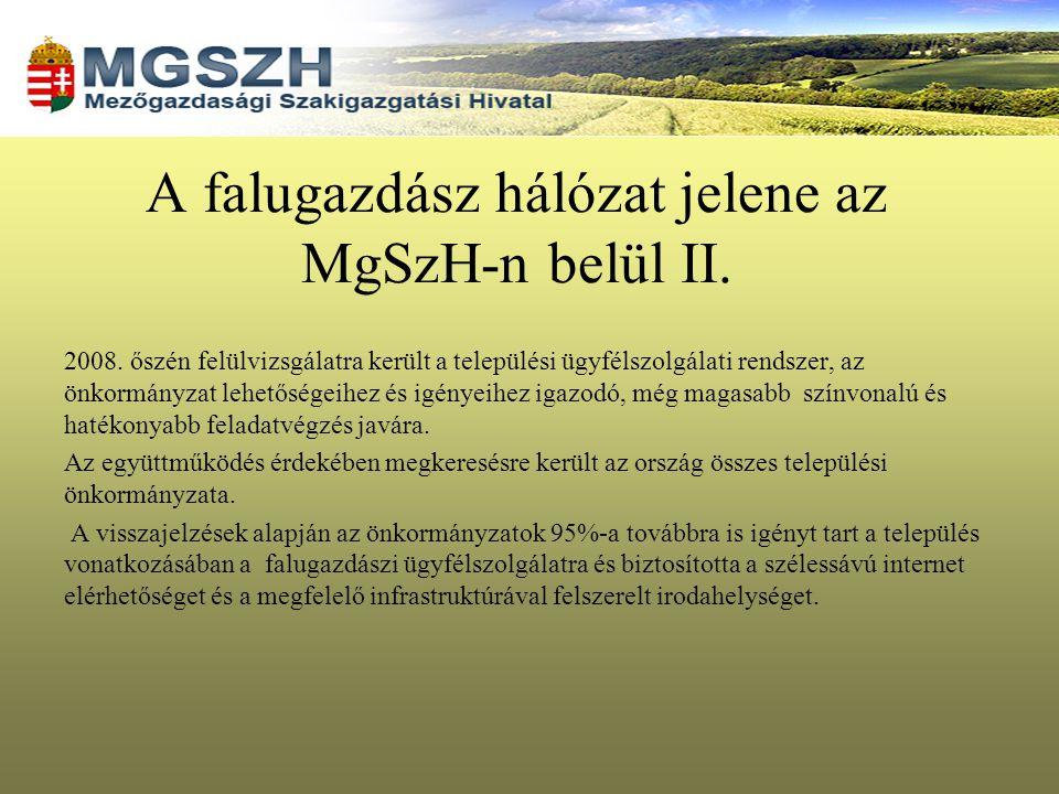 A falugazdász hálózat jelene az MgSzH-n belül II.