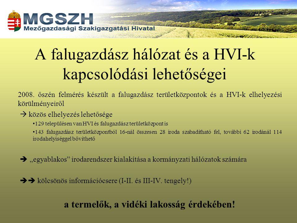 A falugazdász hálózat és a HVI-k kapcsolódási lehetőségei