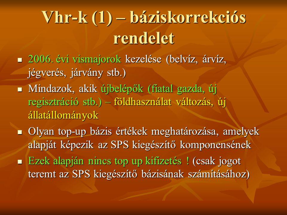 Vhr-k (1) – báziskorrekciós rendelet