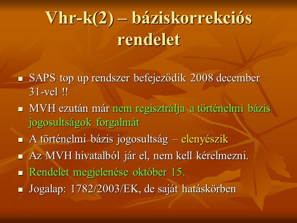 Vhr-k(2) – báziskorrekciós rendelet
