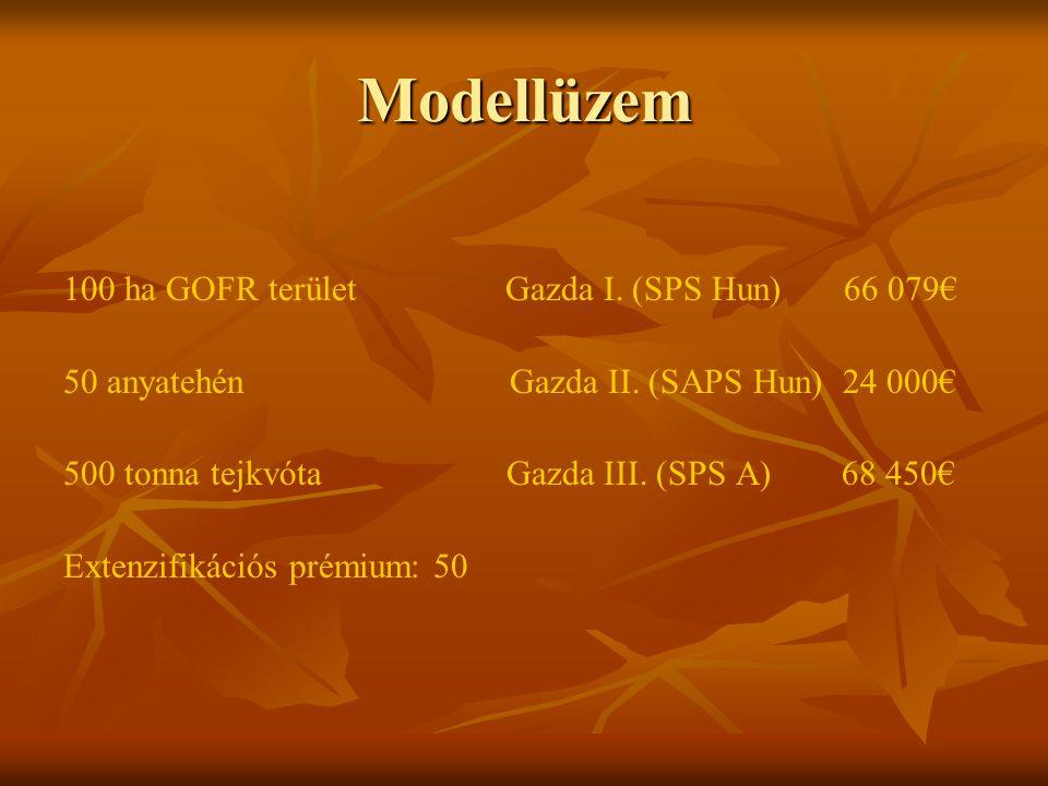 Modellüzem 100 ha GOFR terület Gazda I. (SPS Hun) 66 079€