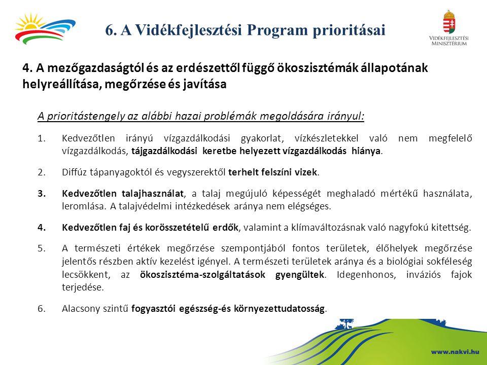 6. A Vidékfejlesztési Program prioritásai