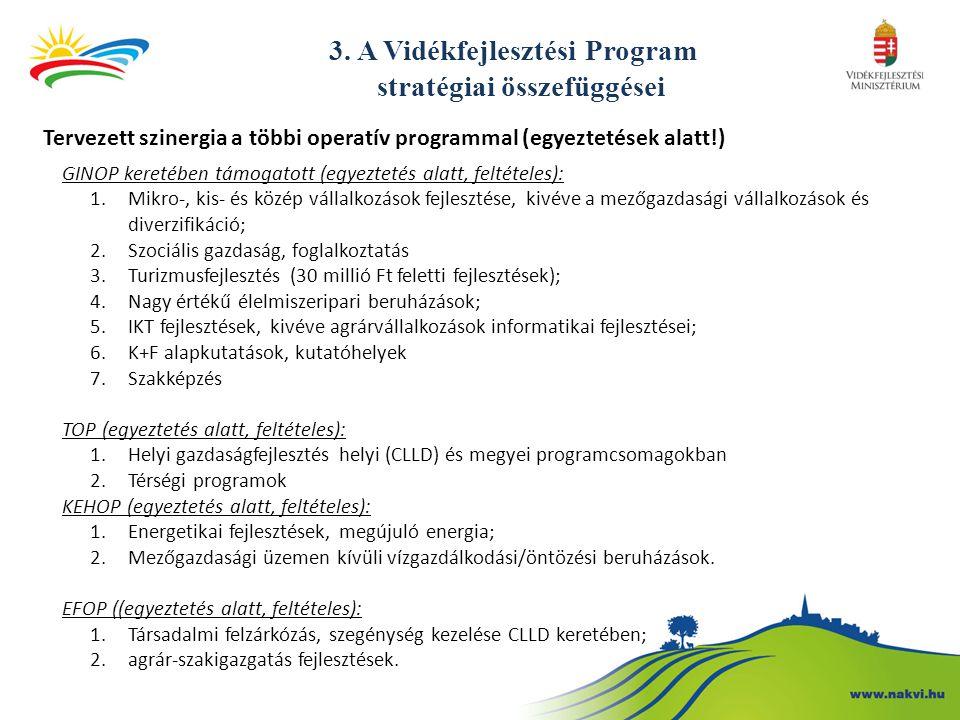 3. A Vidékfejlesztési Program stratégiai összefüggései