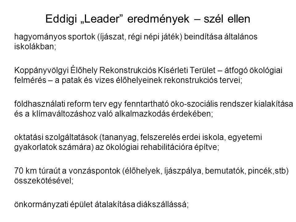 """Eddigi """"Leader eredmények – szél ellen"""