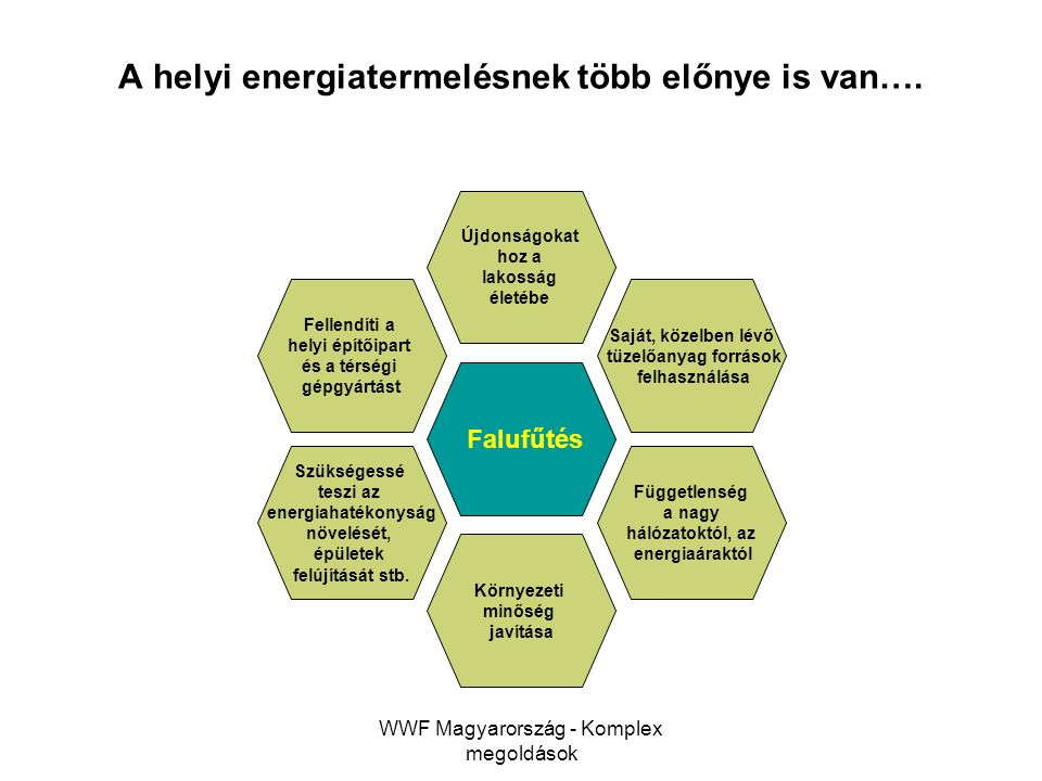 A helyi energiatermelésnek több előnye is van….