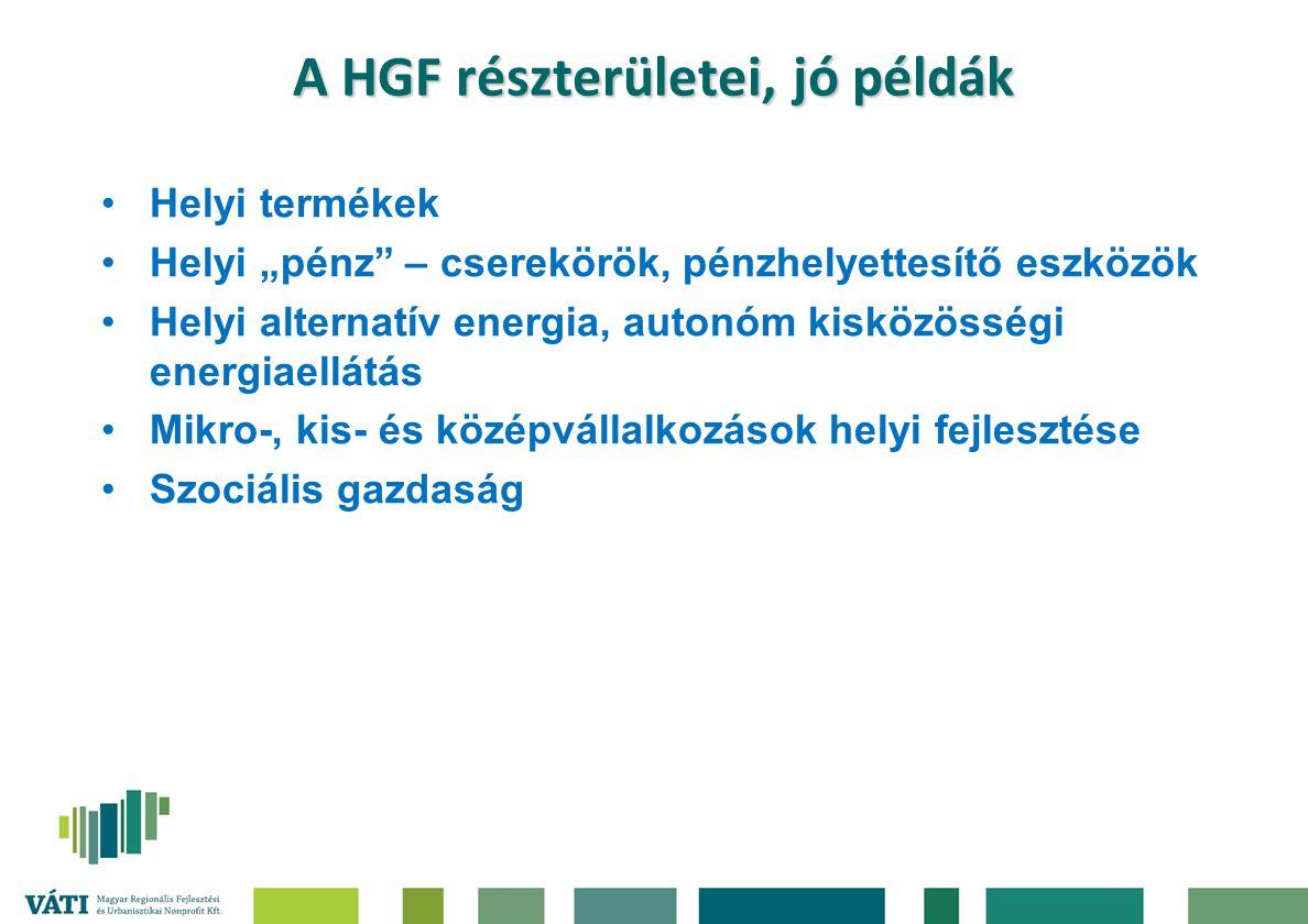 A HGF részterületei, jó példák