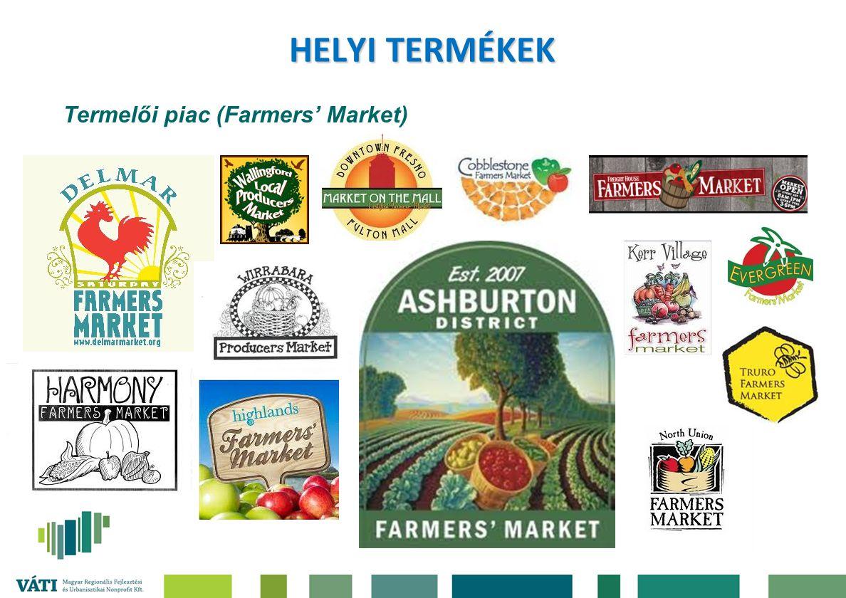HELYI TERMÉKEK Termelői piac (Farmers' Market)