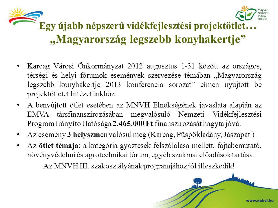 Az MNVH III. szakosztályának programjához jól illeszkedik!