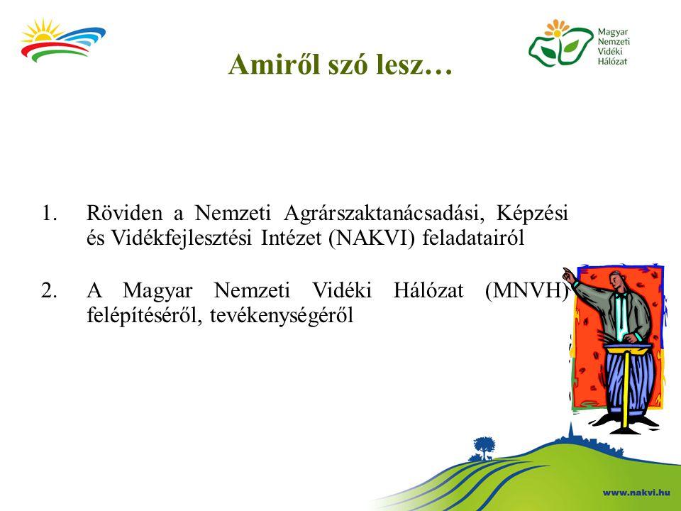 Amiről szó lesz… Röviden a Nemzeti Agrárszaktanácsadási, Képzési és Vidékfejlesztési Intézet (NAKVI) feladatairól.