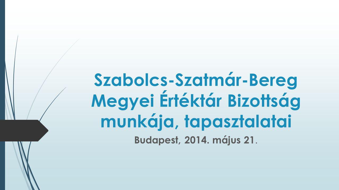 Szabolcs-Szatmár-Bereg Megyei Értéktár Bizottság munkája, tapasztalatai