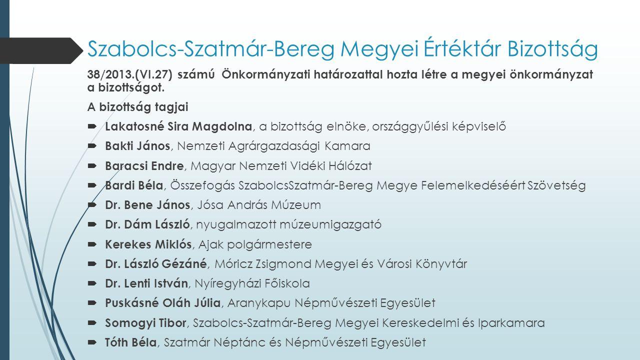 Szabolcs-Szatmár-Bereg Megyei Értéktár Bizottság