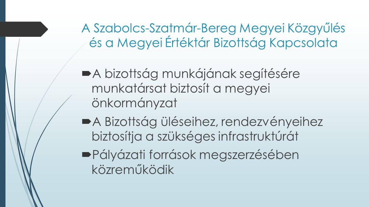 A Szabolcs-Szatmár-Bereg Megyei Közgyűlés és a Megyei Értéktár Bizottság Kapcsolata