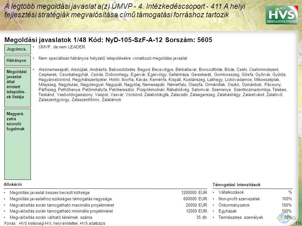 A legtöbb megoldási javaslat a(z) ÚMVP - 4