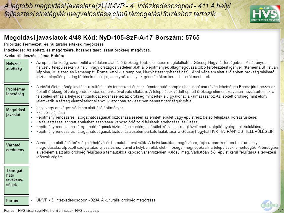 Megoldási javaslatok 4/48 Kód: NyD-105-SzF-A-17 Sorszám: 5765