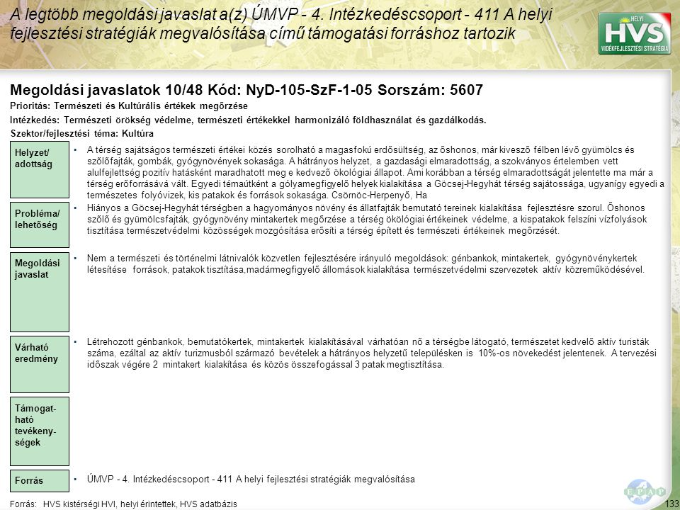 Megoldási javaslatok 10/48 Kód: NyD-105-SzF-1-05 Sorszám: 5607