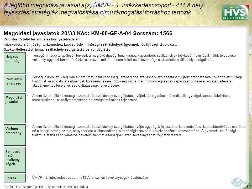 Megoldási javaslatok 20/33 Kód: KM-68-GF-A-04 Sorszám: 1566