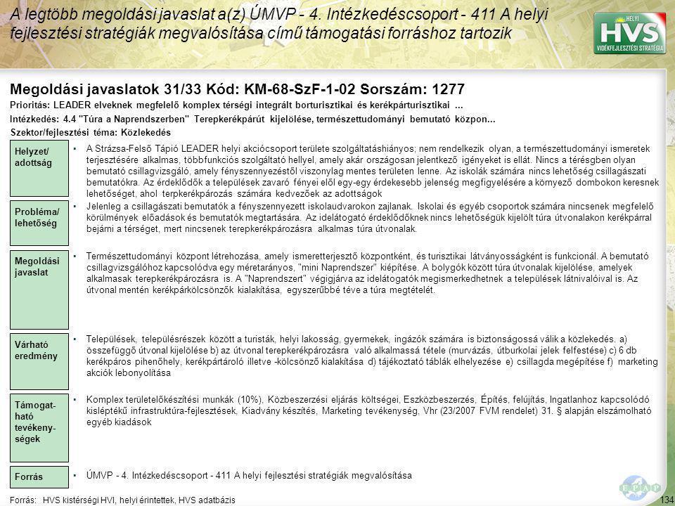 Megoldási javaslatok 31/33 Kód: KM-68-SzF-1-02 Sorszám: 1277