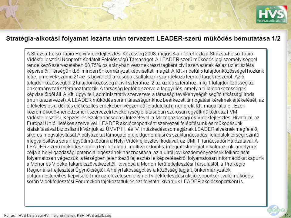 Stratégia-alkotási folyamat lezárta után tervezett LEADER-szerű működés bemutatása 2/2