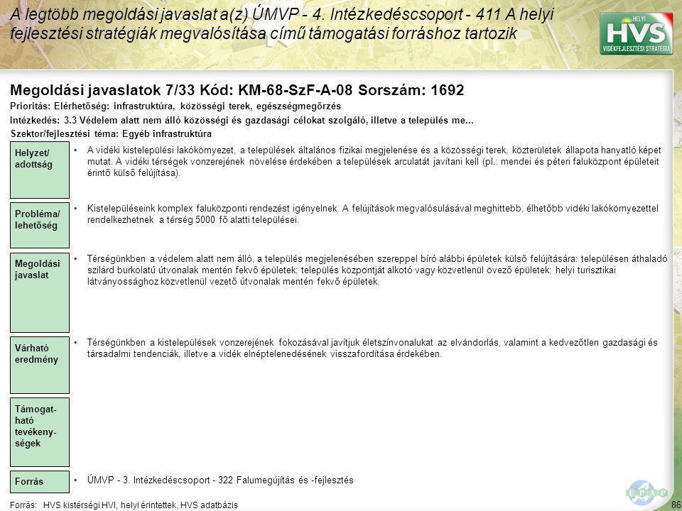Megoldási javaslatok 7/33 Kód: KM-68-SzF-A-08 Sorszám: 1692