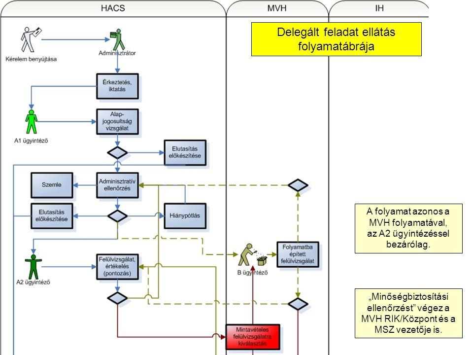 Delegált feladat ellátás folyamatábrája